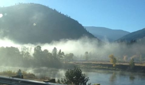Morning mist on the Clark Fork in western Montana