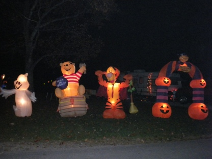 Halloween decorations at Hardy Lake State Recreation Area, Indiana