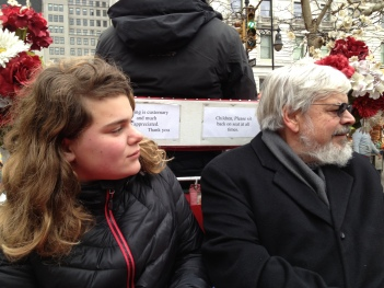 On a carriage ride through Central Park