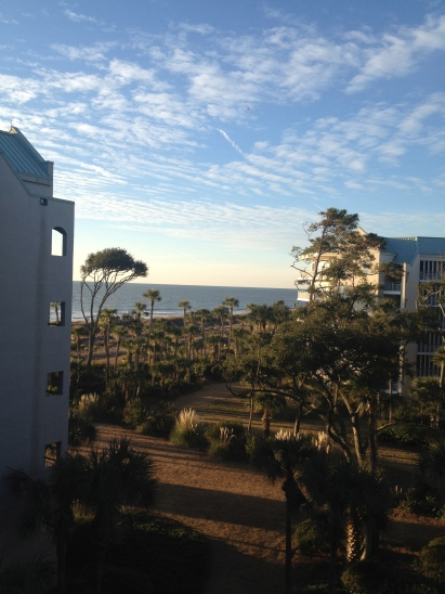 "The view from our ""villa"" on Hilton Head"