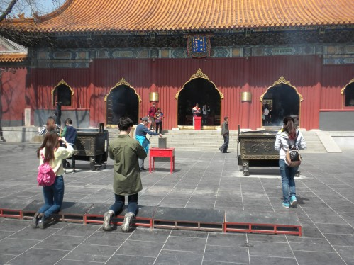 Worshippers at the Lama Temple