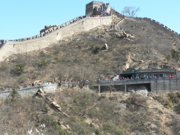 The Great Wall, aswarm with tourists