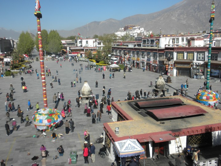 Lhasa's main square