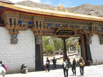 The entrance to the Sera Monastery
