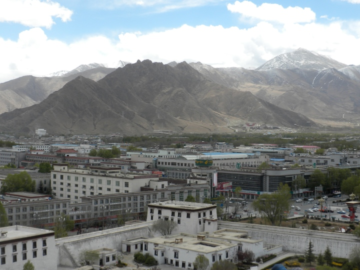 Mountains and rooftops, from the top of the Potala Palace