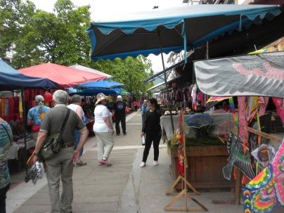Market stalls in Shibaozhai