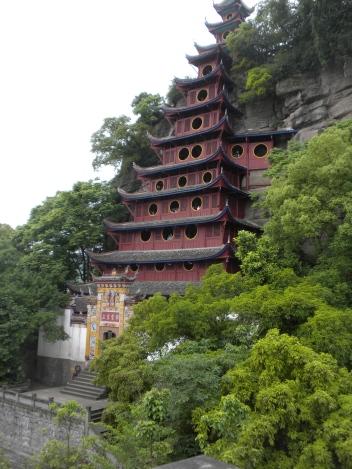 The Shibaozhai pagoda