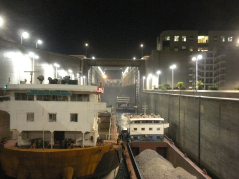 Inside the first of five locks at the Three Gorges Dam
