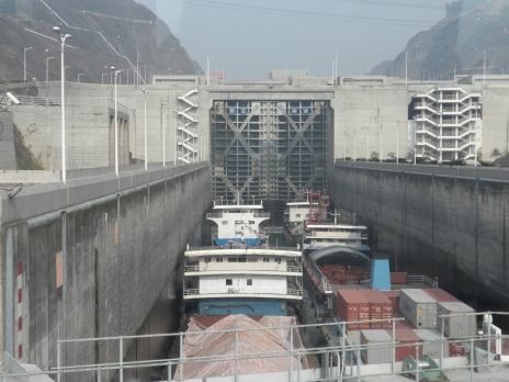 The locks, seen from above