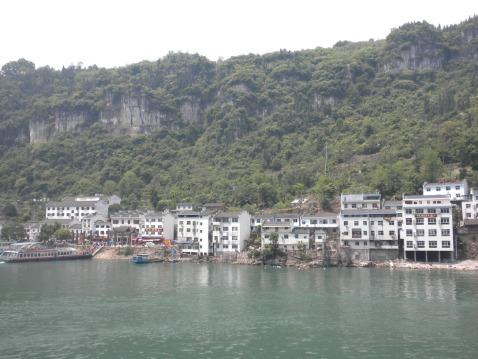 A riverside town