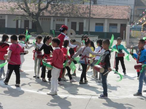 School children performing
