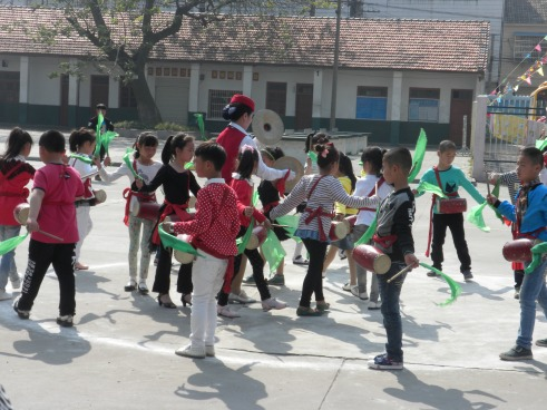 School children performing