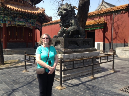 Robin and friend, at the Lama Temple