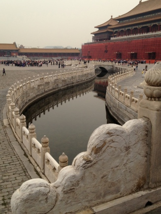 One of the canals in the Forbidden City
