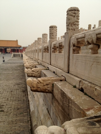 In the Forbidden City, even the drains are decorative.