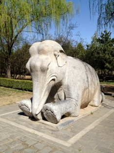 The carved stone figures along the Sacred Way of the Ming Tombs are impressive, but they got this elephant wrong.