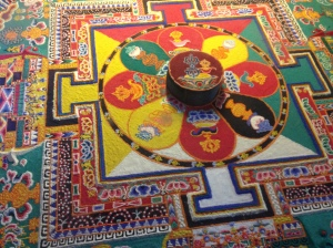 One of the sand mandalas at the Sera Monastery