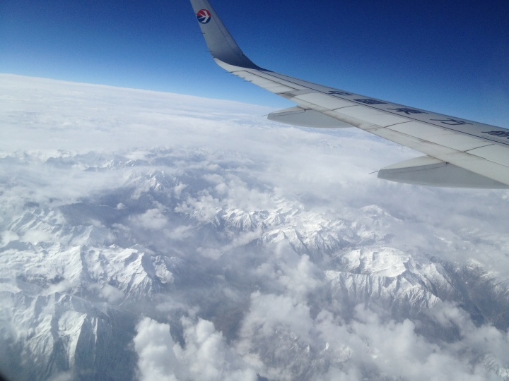 The view from our flight to Tibet