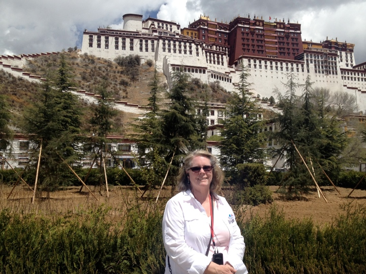 Robin in front of the Potala Palace, former home of Dalai Lama