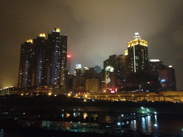 The lights of Chingqing as we set sail