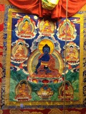 A thangka. done with embroidery