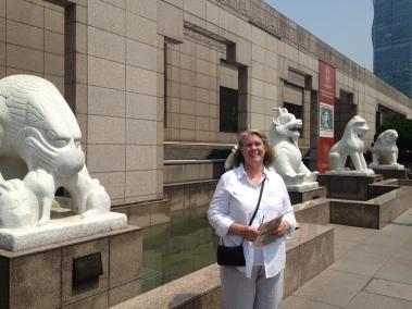 Robin outside the Shanghai Museum