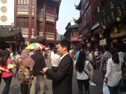 A Shanghai shopping district