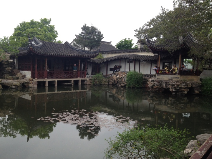 A pond in the Master of Nets Garden