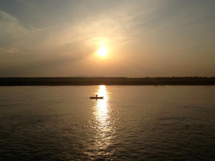 Sunset on the Yangtze