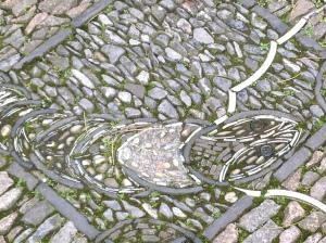 Fish pattern set into a path