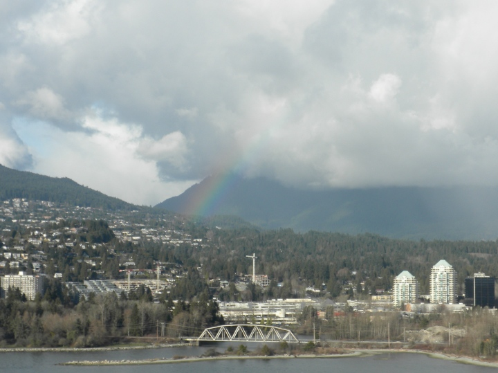 Rainbow seen from Prospect Point, at the northern tip of Vancouver's Stanley Park