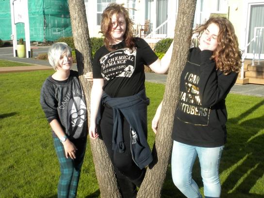 Cousins Annika, Allie, and Sophia