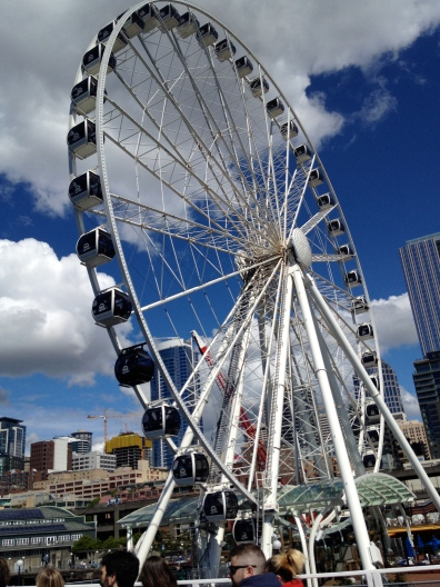 The Great Wheel, on the Seattle waterfront. We didn't ride. We just looked