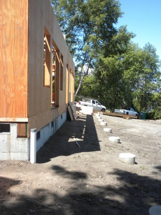 Footings for the first-floor deck
