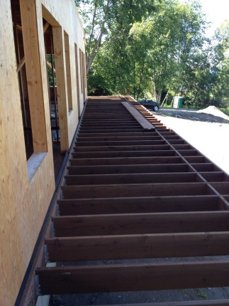Framing for the first-floor deck