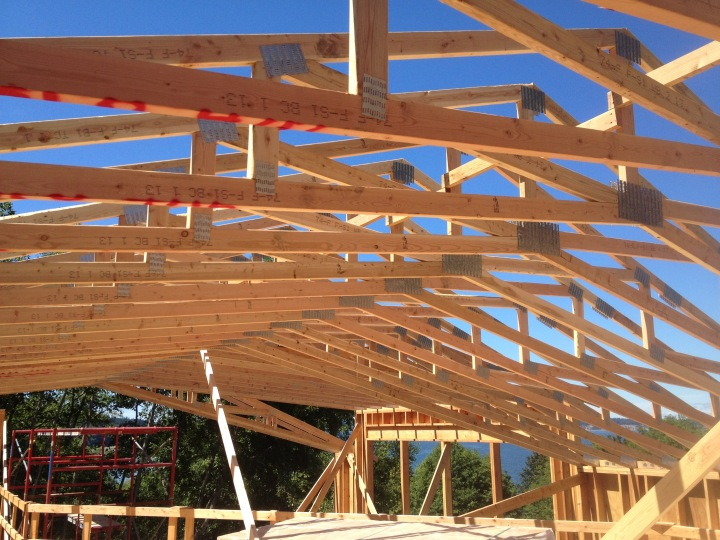 The roof trusses, up close