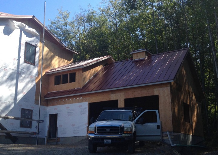 Garage, with roof