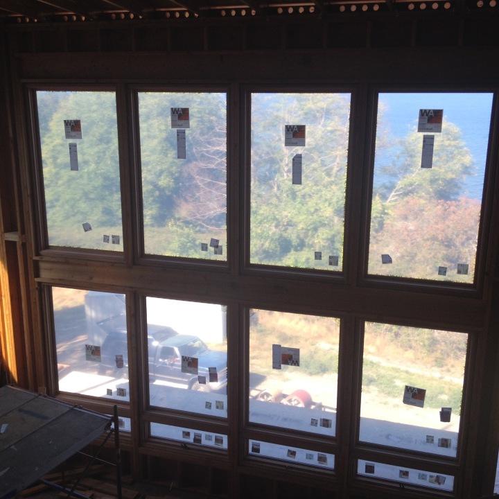 Living-room windows installed
