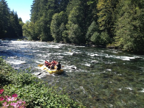 White-water rafters on the McKenzie