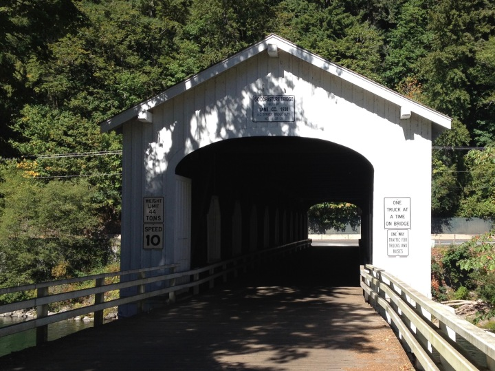 The Goodpasture covered bridge over the McKenzie