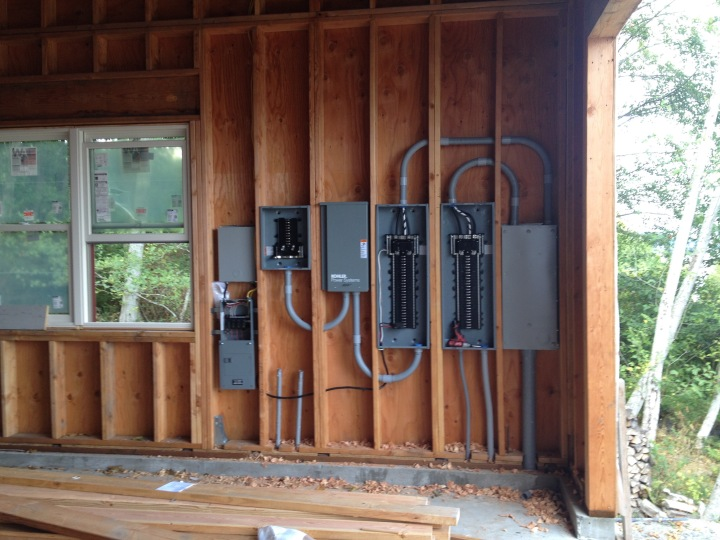 Electrical panels in the garage