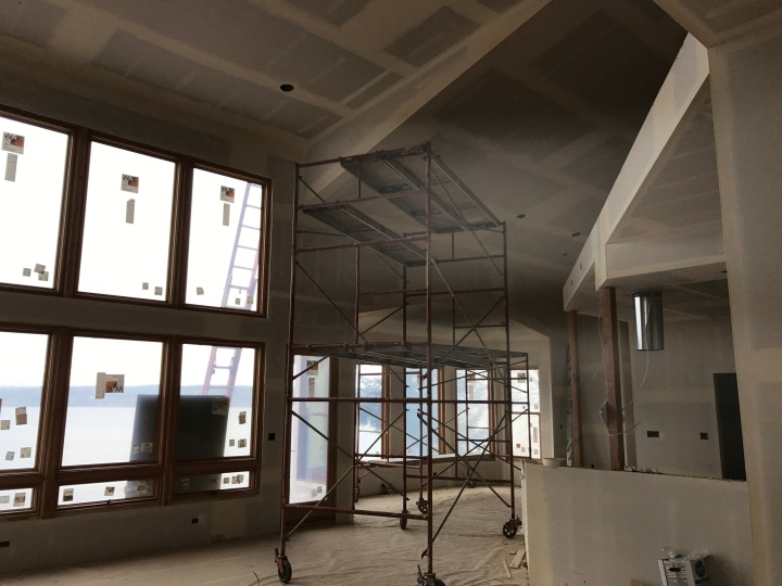 Looking from the living room toward the dining room