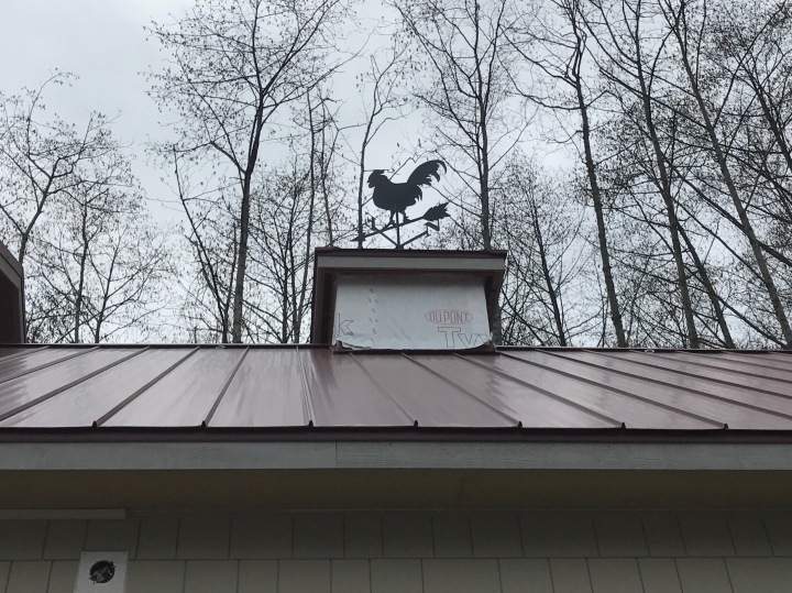The weathervane, made for up by a local artisan