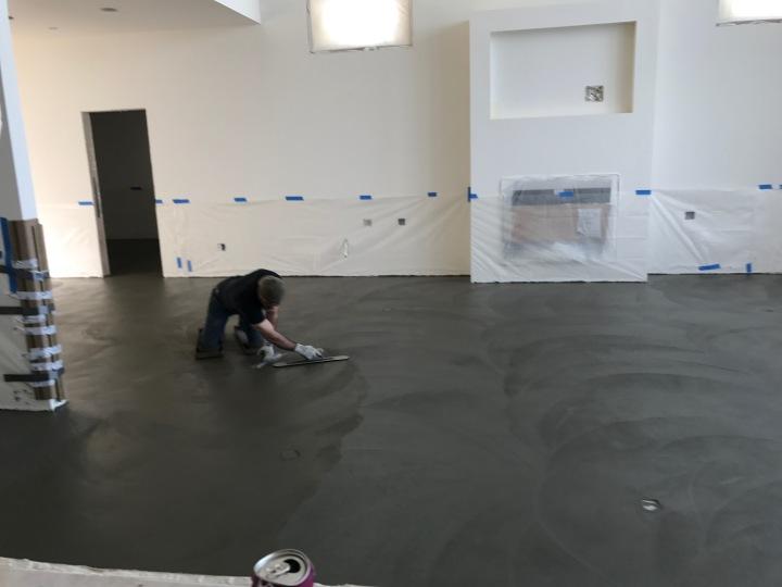 Finishing the living-room floor