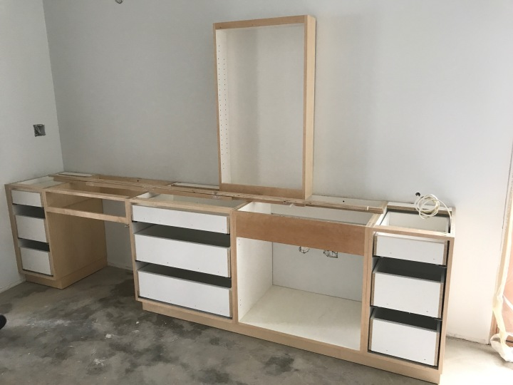 Cabinets in the master bath