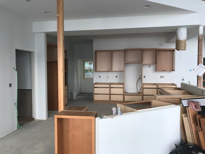 Kitchen cabinets, viewed from the dining room