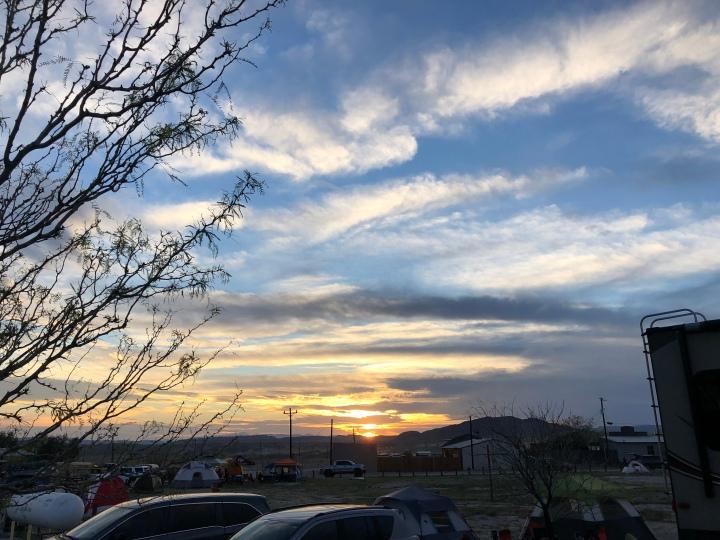 Sunset over Terlingua