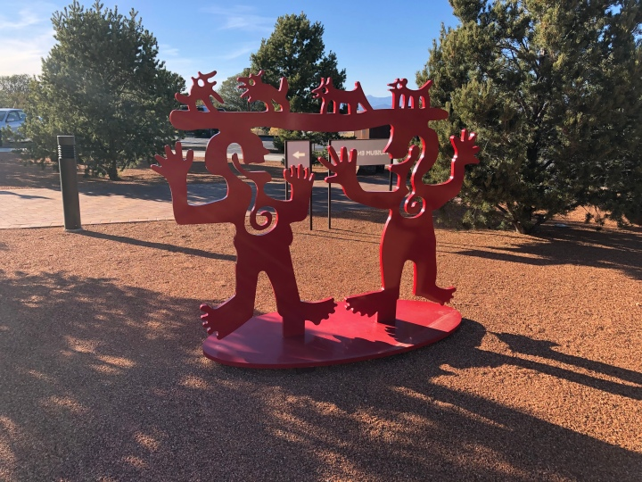 """This sculpture, by a Navajo artist, is called """"Two Minds Meeting."""""""