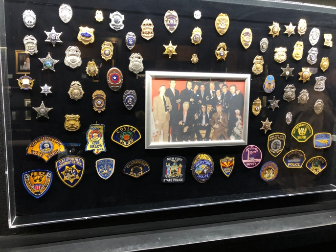 Elvis was a cop groupie and collected a lot of badges and patches from various police departments.