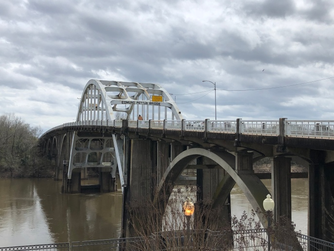 The Edmund Pettus Bridge, the site of a bloody civil-rights confrontation in 1965, and a commemorative march on Sunday, was back to normal the following day.